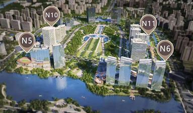 Stores next to five star hotels and subway station for sale in China