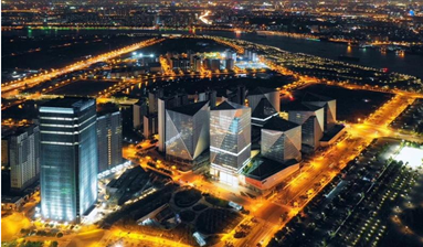 17-storey office building Crystal Plaza designed by William Pedersen in China