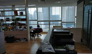 An Office with convenient transportation and great view for sale in China