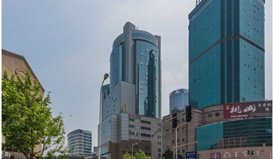A office for sale inside of top-grade business building in Shanghai, China